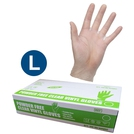 Safecare PPE Clear Vinyl Gloves (L)