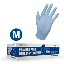 Safecare PPE Blue Vinyl Gloves (M)