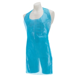 H'gard Disposable Plastic Aprons Flat Pack - Blue