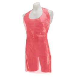 Premier Disposable Plastic Aprons Roll - Red