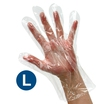 Safecare Clear Polythene Plastic Gloves (L)