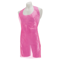 Premier Disposable Plastic Aprons Roll - Pink