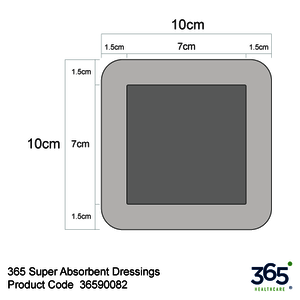 365 Super Absorbent Dressings (10 x 10 cm)