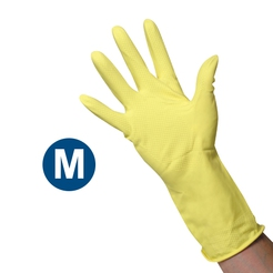 Clean Grip Yellow Rubber Gloves (M)