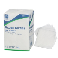 Non Sterile Gauze Swabs 16 Ply Green (10 x 10 cm)