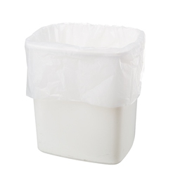 White Polythene Swing Bin Liners