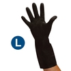Black Heavy Duty Rubber Gloves (L)