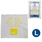 Polyfield Packs Yellow Bag Latex Gloves (L)