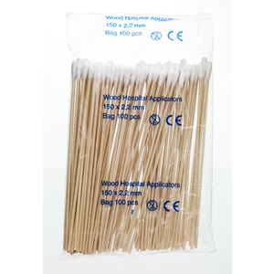 "Non Sterile Cotton Tipped Applicators  152 mm (6"")"