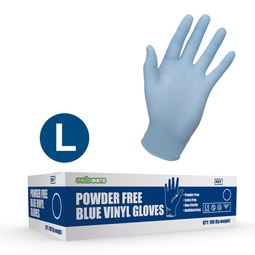 Safecare PPE Blue Vinyl Gloves (L)