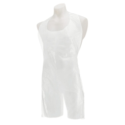 H'gard Disposable Plastic Aprons Flat Pack - White