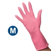 Clean Grip Pink Rubber Gloves (M)