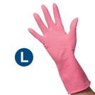 Clean Grip Pink Rubber Gloves (L)