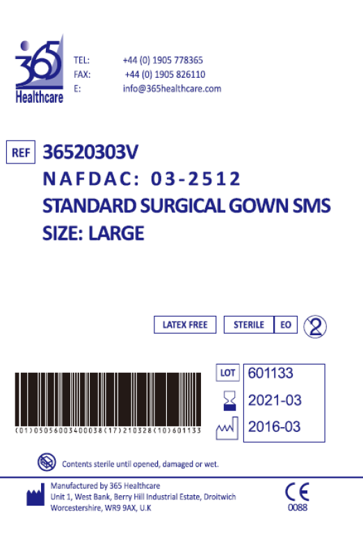 365 Healthcare Gowns Packaging